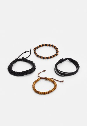 JOASH 4 PACK - Bracelet - brown/black