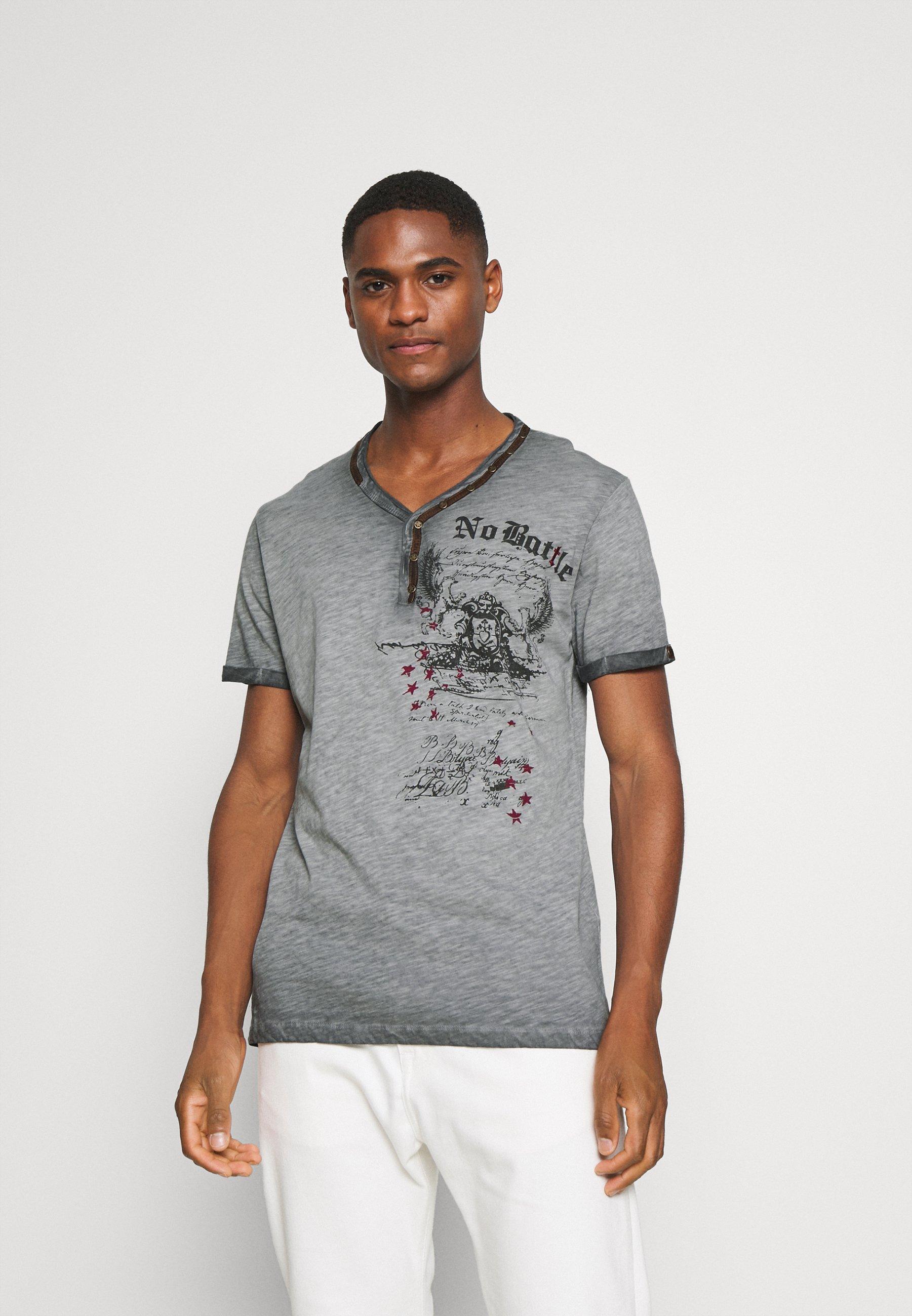 Men BATTLE BUTTON - Print T-shirt