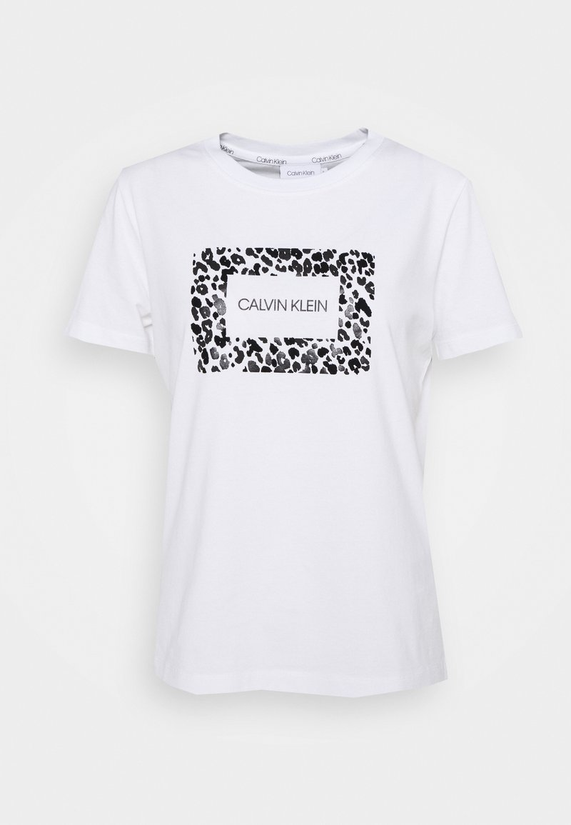 Calvin Klein - REGULAR FIT LEO BOX TEE - Print T-shirt - bright white