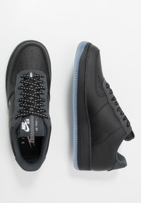 Nike Sportswear - AIR FORCE 1 '07 LV8 - Sneakers - black/silver lilac/anthracite/white - 1