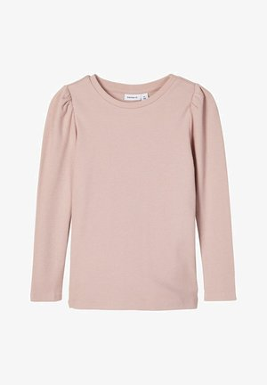 SLIM FIT RIPPDESIGN - Langærmede T-shirts - adobe rose