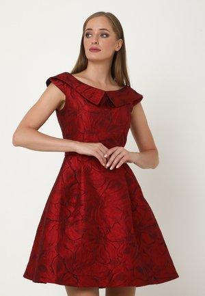 ALLTAGS LUDOVIKA - Cocktail dress / Party dress - schwarz rot