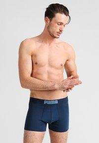 Puma - BASIC 2 PACK - Panties - blue - 3