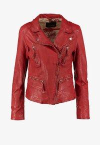 Oakwood - CAMERA - Leather jacket - red - 7