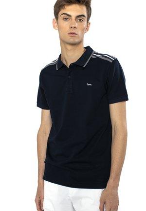 POLO IN COTONE CON CONTRASTI COLORE - Polo shirt - blu scuro