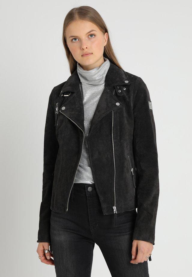 BIKER PRINCESS - Leather jacket - dark grey
