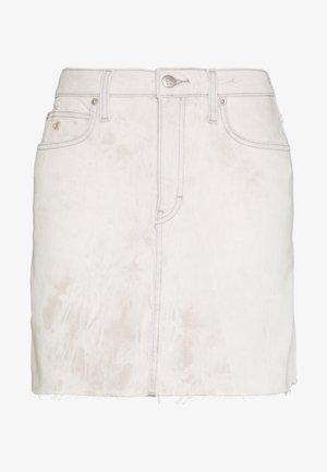 HIGH RISE SKIRT - Denim skirt - bleach grey