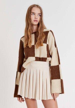 Áčková sukně - mottled beige