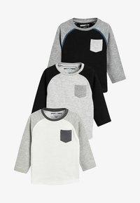 Next - 3PACK  - T-shirt à manches longues - black - 0