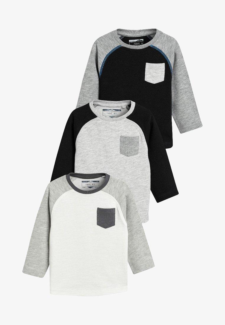 Next - 3PACK  - T-shirt à manches longues - black