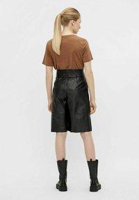 Object - OBJDANA - Leather trousers - black - 3