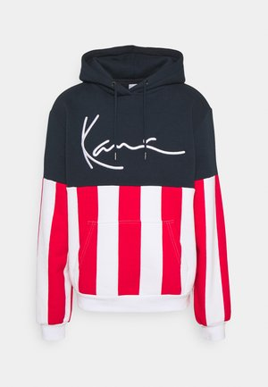 SIGNATURE BLOCK STRIPE HOODIE - Sweatshirt - navy