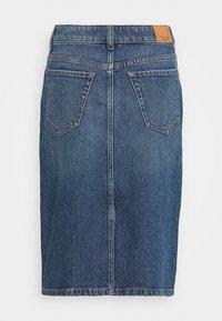 Marc O'Polo - SKIRT OVER KNEE LENGTH - Denim skirt - mid authentic wash - 1