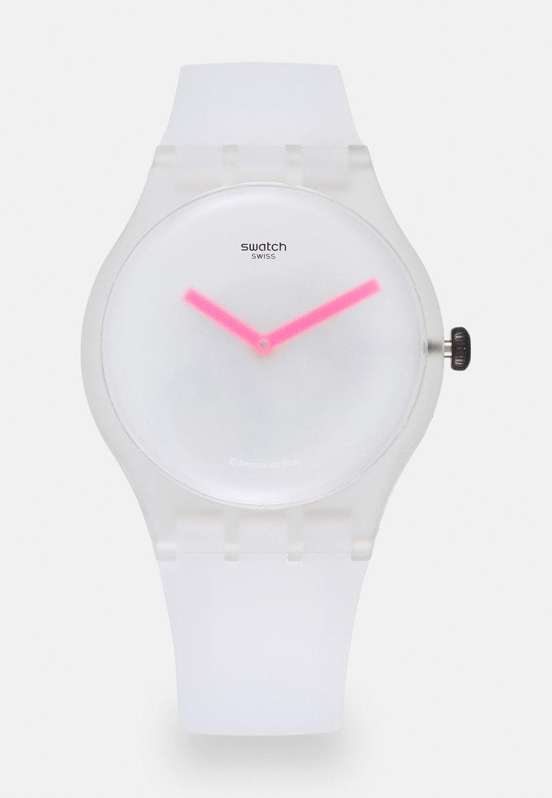 Swatch - SNOW BLUR UNISEX - Klocka - white
