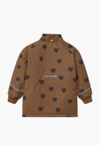 Mini Rodini - HEARTS - Winter coat - brown - 3