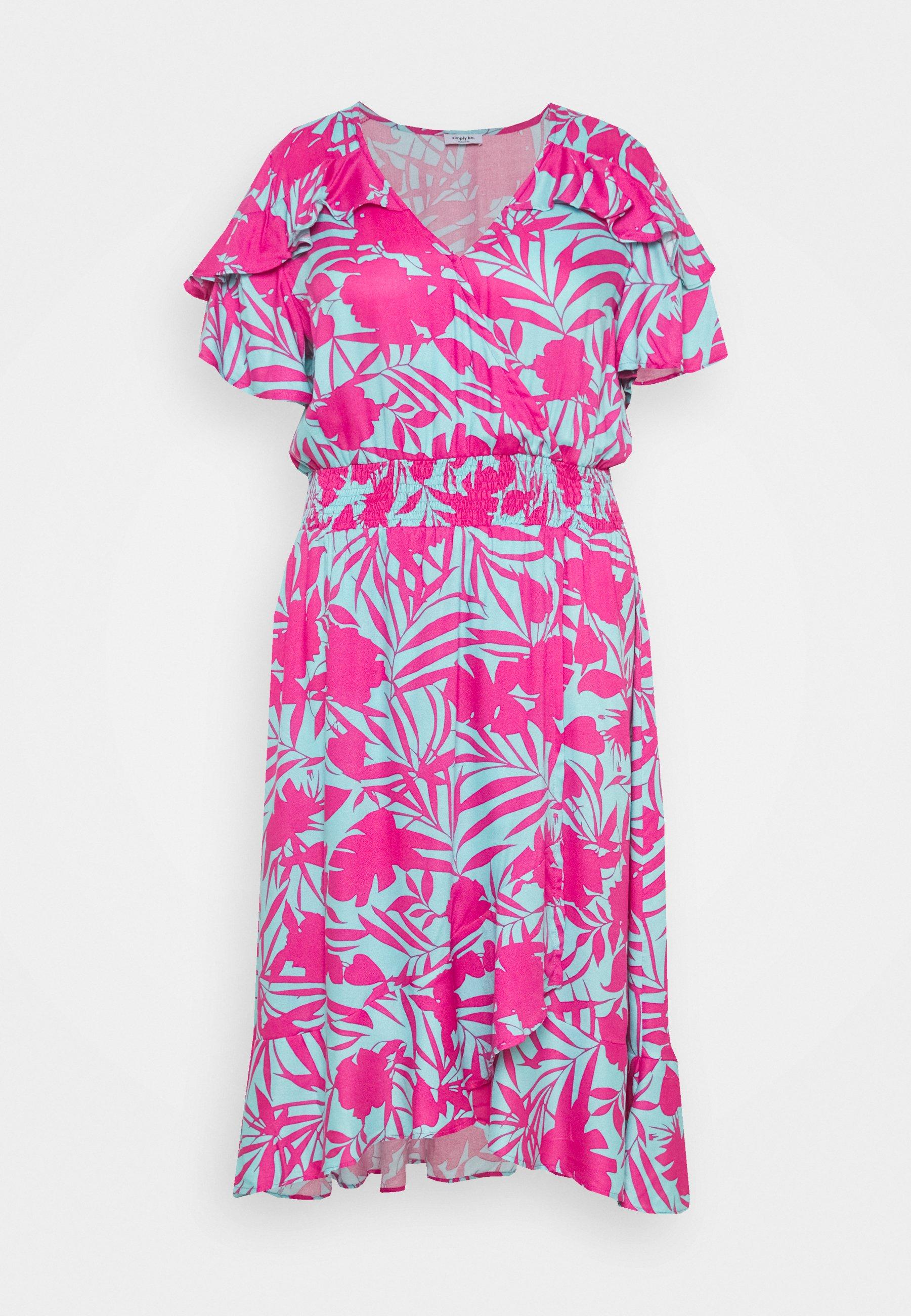 Women FRILL WRAP FRONT MIDI DRESS - Day dress