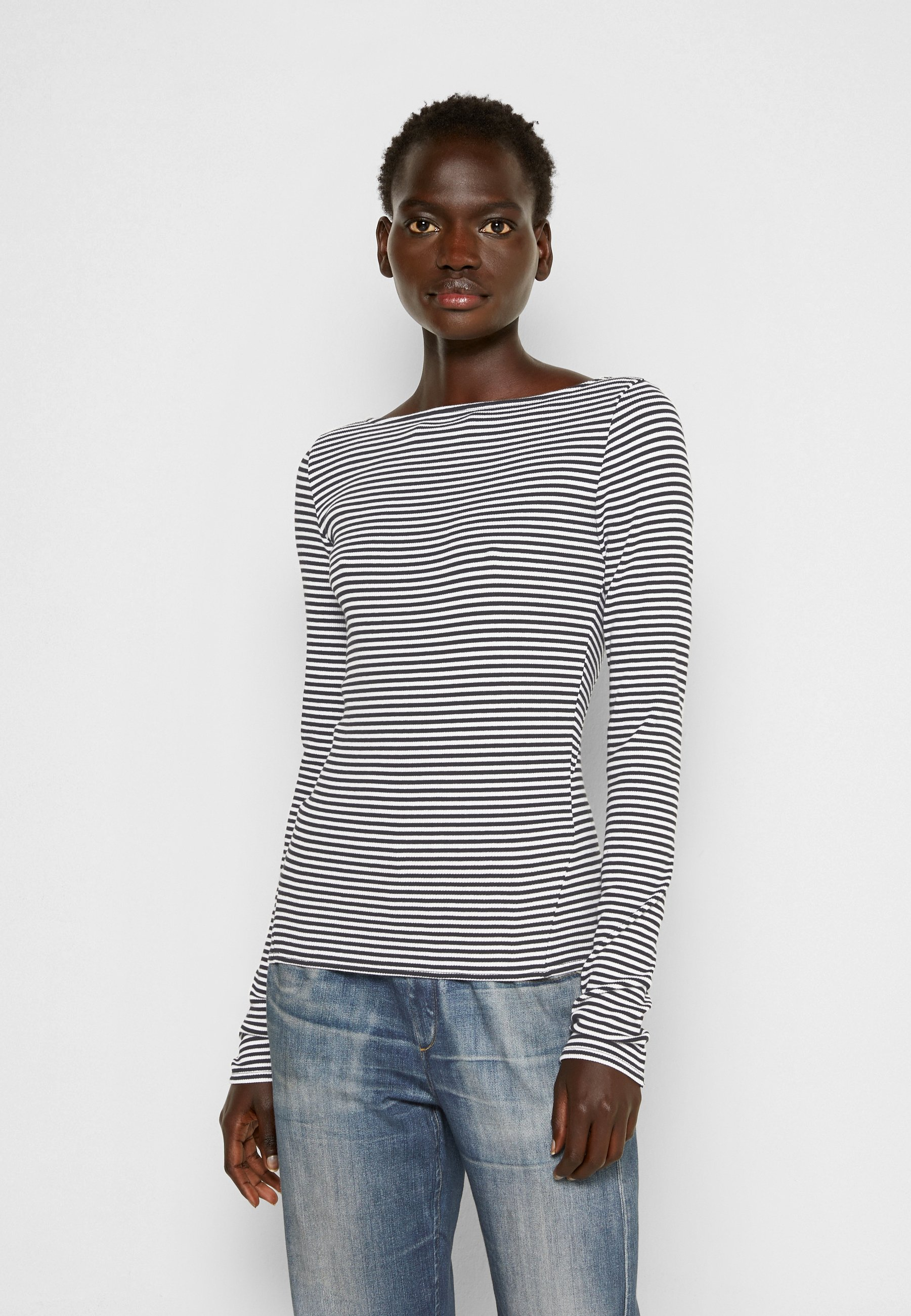 Women THE ESSENTIAL RIB BOATNECK - Long sleeved top