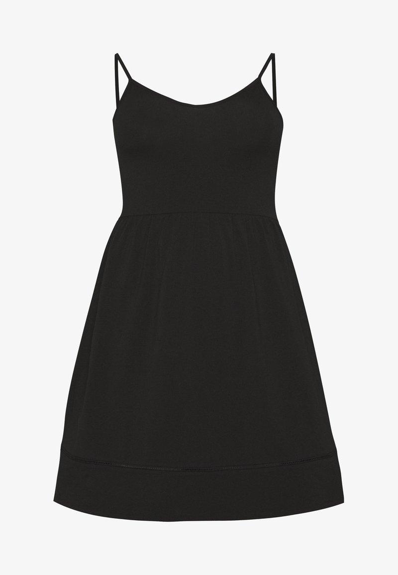 ONLY Carmakoma - CARKALLON LIFE KNEE DRESS - Jersey dress - black
