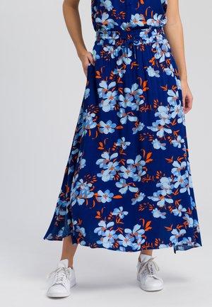 MARC AUREL MIT BLÜTENDRUCK - A-line skirt - dark blue varied