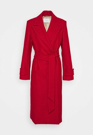 BELTED COAT - Mantel - allure red