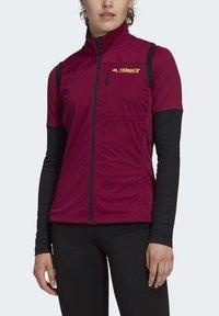 adidas Performance - AGRAVIC XC WINTER X-COUNTRY SKIING VEST - Waistcoat - burgundy - 0