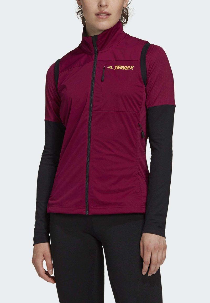 adidas Performance - AGRAVIC XC WINTER X-COUNTRY SKIING VEST - Waistcoat - burgundy