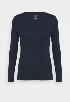 REGULAR CREW - Long sleeved top - dark blue