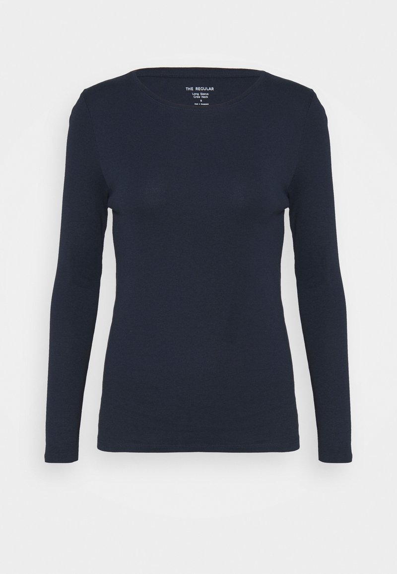 Marks & Spencer London - REGULAR CREW - Long sleeved top - dark blue