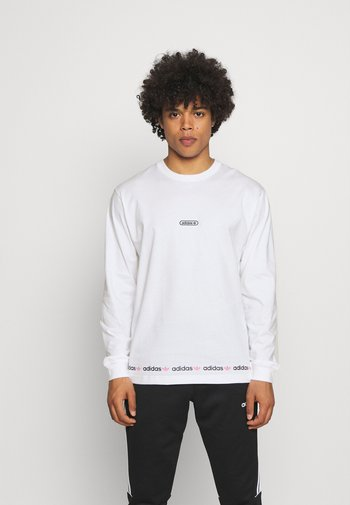 LINEAR REPEAT ORIGINALS LONG SLEEVE - Long sleeved top - white