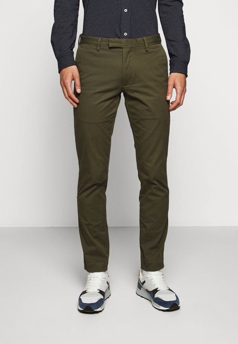 Polo Ralph Lauren - STRETCH SLIM FIT COTTON CHINO - Pantalon classique - expedition olive