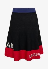 KARL LAGERFELD - COLORBLOCK SKIRT - Áčková sukně - black - 5