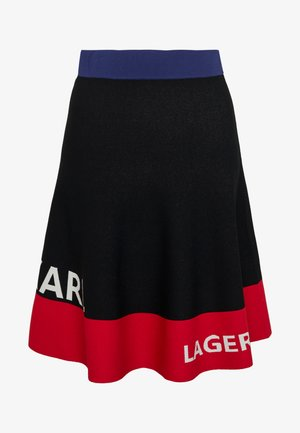 COLORBLOCK SKIRT - Áčková sukně - black