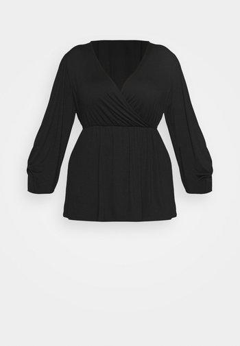 BALLOON SLEEVE  - Long sleeved top - black