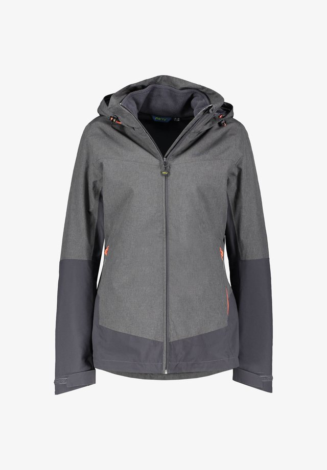 DOPPEL HARSTAD - Fleece jacket - grau mel. (220)