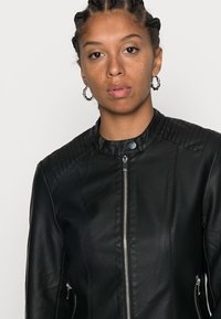 Vila - Faux leather jacket - black - 4
