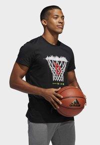 adidas Performance - DAME LOGO T-SHIRT - Print T-shirt - black - 3