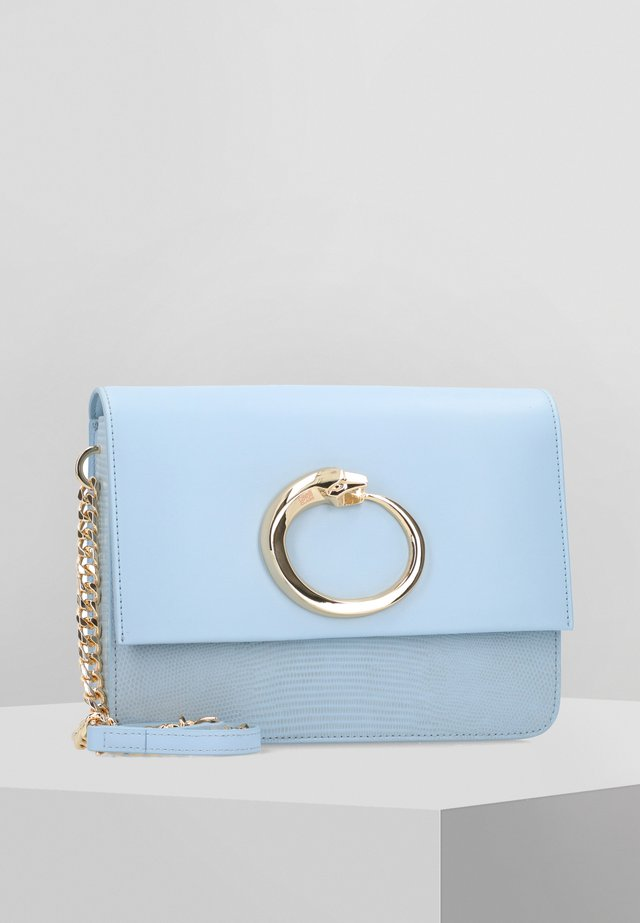 MILANO UMHÄNGETASCHE LEDER 24 CM - Across body bag - light blue