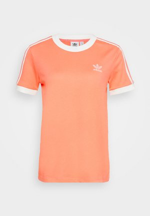 T-shirts med print - chalk/coral/white