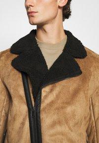 Nominal - AVIATOR  - Faux leather jacket - tan - 5