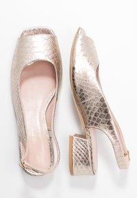 L37 WIDE FIT - LAZY MORNING - Sandals - gold - 3