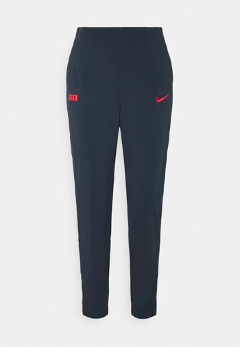 FRANKREICH FFF PANT - Pantalones deportivos - dark obsidian/university red