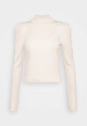 PUFF SLEEVE - Strikkegenser - cream