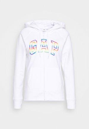 NOVELTY - Zip-up hoodie - white