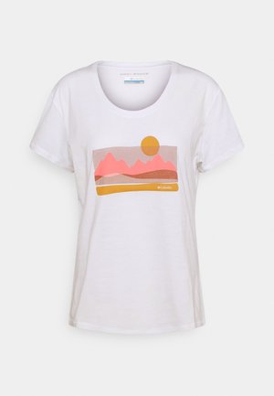 SUN TREK™ GRAPHIC TEE - Print T-shirt - white