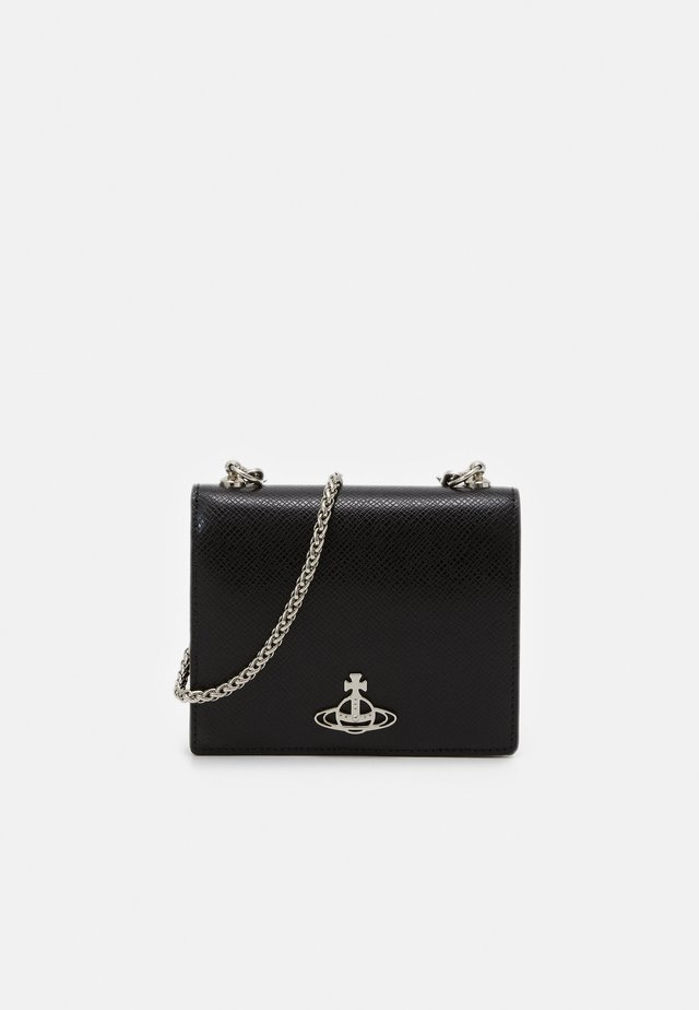 SOFIA CARD CASE WITH CHAIN - Plånbok - black