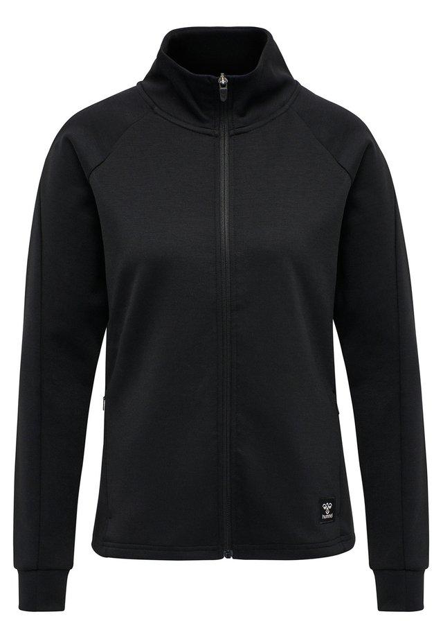 HMLESSI - Zip-up hoodie - black