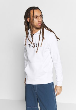 TRUTH HOODIE - Jersey con capucha - white