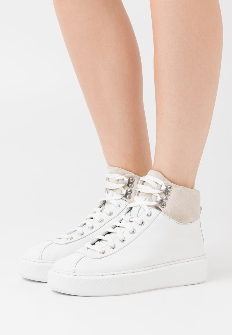 Grenson - High-top trainers - white