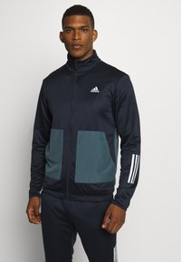adidas Performance - FABRIC MIX AEROREADY SPORTS TRACKSUIT - Tracksuit - dark blue - 0