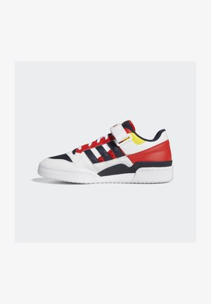FORUM LOW UNISEX - Sneakers - white/legend ink/red